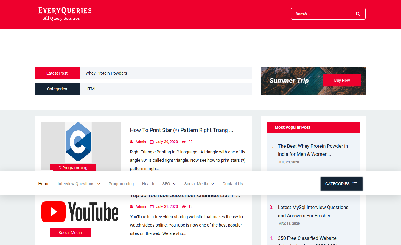 EveryQueries – Provides Globally Solutions To All Possible Topics | Every Queries