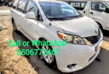 TOYOTA SEINNA 2011 ,WHITE COLOUR FOR SALE