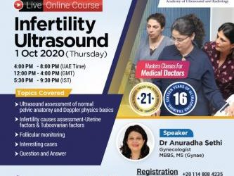 Oct 1st – Live Online course Infertility Ultrasound